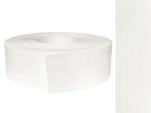 EisenRon - Cinta de melamina para bordes (45 mm x 5 m, con adhesivo termofusible), color blanco