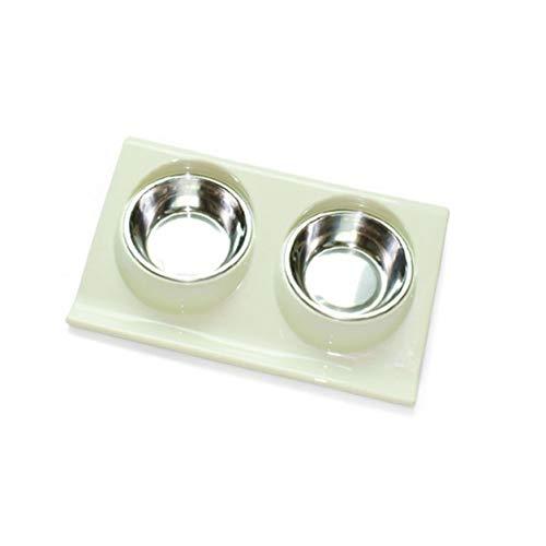 YXDS Cuencos para Perros Alimentador de Agua y Alimentos de Acero Inoxidable Tazón de alimentación de Silicona de Seguridad Tazón de Silicona Antideslizante