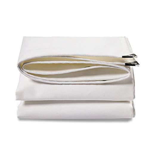 Patios Blanca Lona Impermeable Pesada Lienzo Deber Lorry Lluvia de Tela de protección Solar almacén de Carga de la Planta Visera, un Espesor de Aproximadamente 0,80 mm, Peso 500 g /  (Size : 4m×5m)