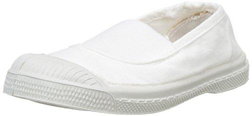 Bensimon Unisex-Kinder Tennis Elastique Enfant Flach, Weiß (Blanc), 34 EU