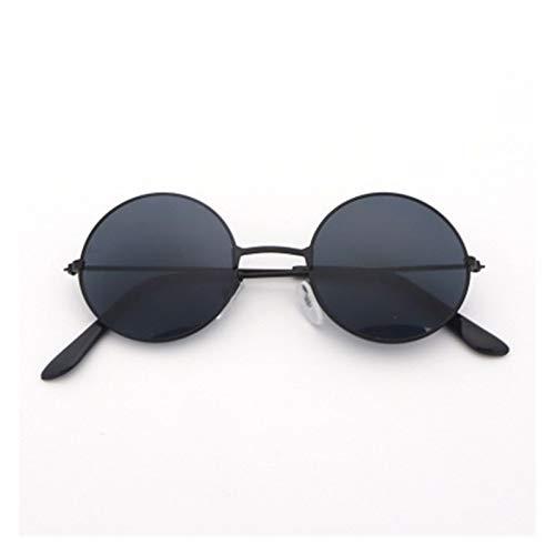 Lucky DuDu Hombres Mujeres Vintage Retro Gafas de Sol Redondas Metal Marco Gafas de Gafas de Pesca Gafas de Sol Gafas Deportivas al Aire Libre (Color : C)