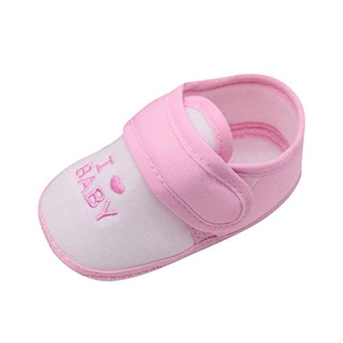 Zapatos para bebé de 6 a 12 meses, zapatos de bebé para aprender a andar, zapatos de bebé con suelo suave, antideslizantes, con cierre de velcro, Rosa., 31