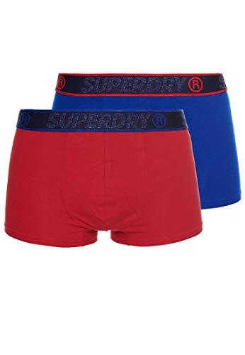 Superdry Herren Boxershorts aus Bio-Baumwolle im 2er-Pack Rot Multipack M