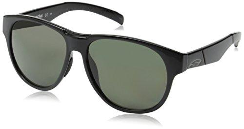 Smith Optics Townsend Sunglasses, Black Frame, Polar Gray Green Carbonic TLT Lenses