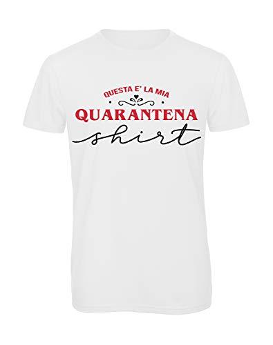 Bughyprint Tshirt Maglia Maglietta Uomo La Mia Quarantena, XL
