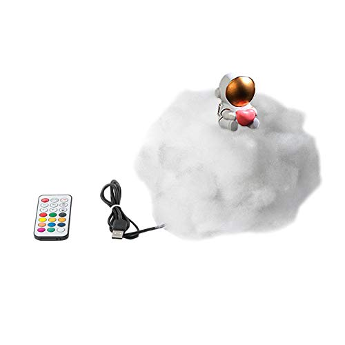THESHYER 1PC Luces de Nube de Astronauta, utilizadas para la decoración de Habitaciones y dormitorios, Mini artículos de decoración de Entretenimiento para el hogar