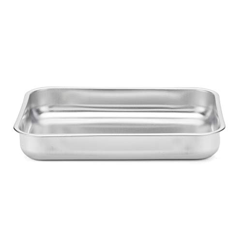steel pan 101825 Teglia, Acciaio Inossidabile, Argento, 35x26
