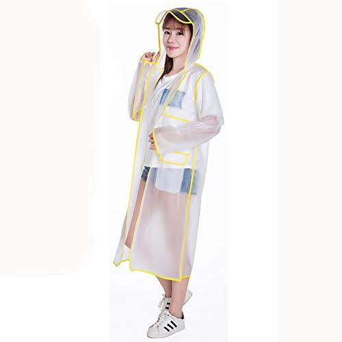 LSLS Raincoat Transparent Raincoat, Hiking Outdoor Climbing Ms. Adult Male Student Fashion Waterproof Raincoat Raincoat Poncho Long Rain Poncho (Color : C, Size : Large)