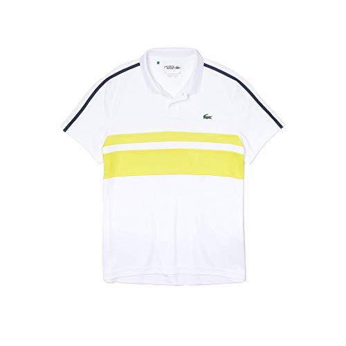 Lacoste DH9605 Camisa de Polo, Blanc/Ananas-Marine, 3XL...