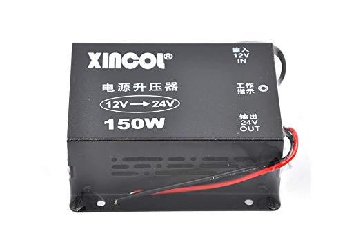 XINCOL DC-DC 12 V till 24 V omvandlare step Up Transformer 150 W för bil lastbil fordon motorbåt solsystem etc.