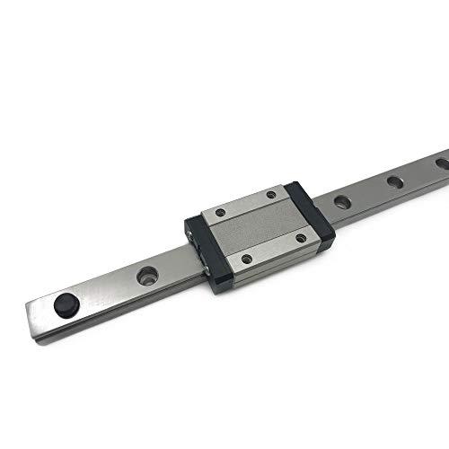 3차원 프린터 및 CNC 머신용 MGN12H 캐리지 블록 1PCS를 장착한 MGN12 300MM | 11.81 선형 레일 가이드