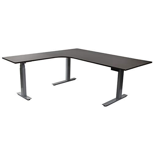 HORI® Eck-Schreibtisch PC Computertisch oder als Arbeitstisch mit elektrisch...