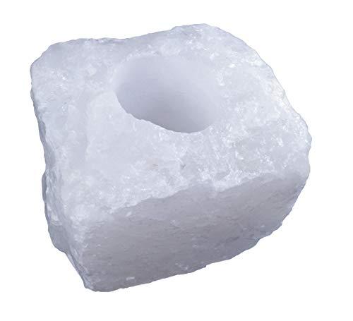 Levensbron plus bergkristal theelichthouder edelsteen theelicht theelicht natuurlijke edelsteen 1 kg