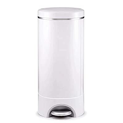 Munchkin Step Diaper Pail Powered by Arm & Hammer, Includes (1) Bonus Toss Disposable Diaper Pail by Munchkin