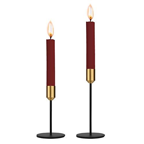 Kerzenständer 2 Stück, Konischen Kerzenständer Metall, Kerzenhalter Moderne für Wohnzimmer Schlafzimmer Wedding Banquet Deko