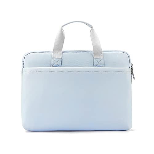 GDSSX Elegante Borsa da Lavoro da Donna per Laptop per Laptop da 13-16 Pollici Peluche per Laptop + Eva. Spugna Protezione interiore Cover Protettiva (Color : Blue, Size : 13.3 inch)