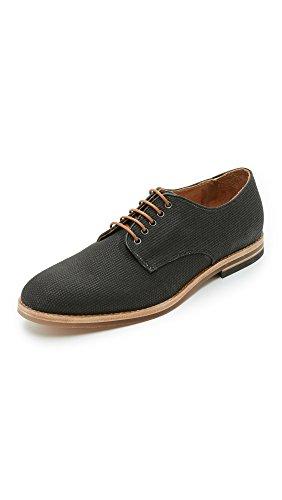 Hudson K401012 - Zapatos de Cordones de Lona Hombre, Negro (Negro (Black 012)), 40 EU