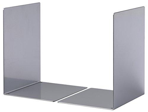 Durable 324423 Buchstütze Metall L, Set mit 2 Stück, silber