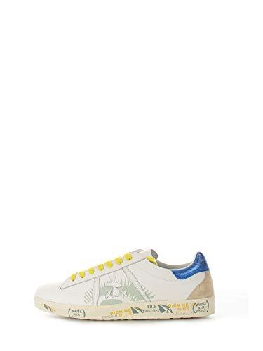 Zapatos Sneakers Hombres PREMIATA Andy 5142 Cuero Blanco