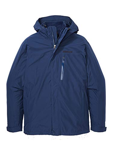 Marmot Ramble Component Jacket Impermeable rígido, chubasquero, resistente al viento, resistente al agua, transpirable, Hombre, Arctic Navy, XL