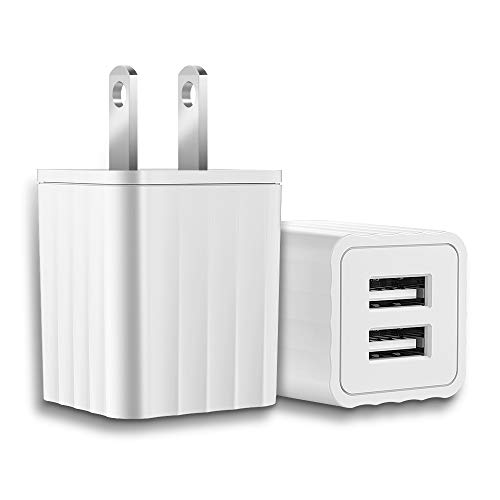DoSmarter USB Wall Charger, Dual Port 24W USB Travel Charger, AC Plug Power Adapter Cube Compatible with iPhone, iPad, Android Phone, Tablet, Bluetooth Speaker