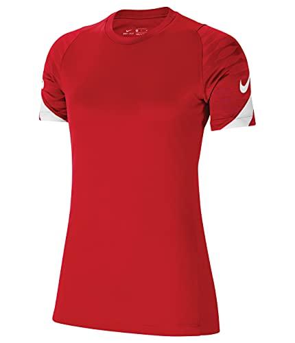 NIKE Camiseta para Mujer Strike 21, Mujer, CW6091-657, University Red/Gym Red/White/White, Medium