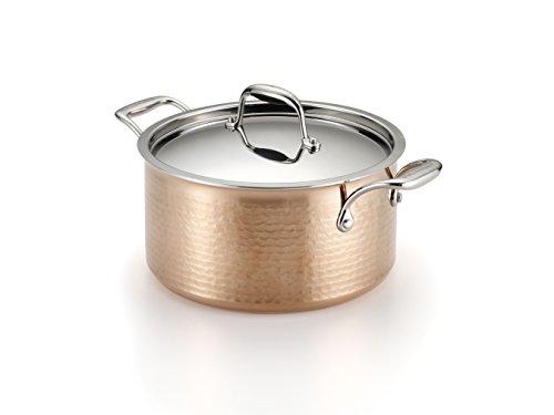 Martellata Copper 5-Quart Covered Stewpot