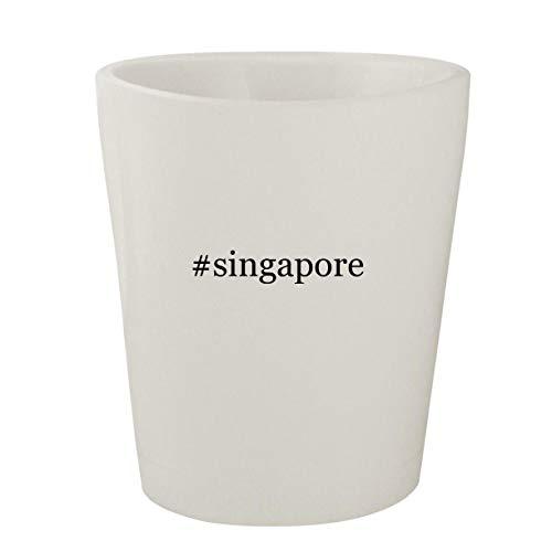 #singapore - White Hashtag Ceramic 1.5oz Shot Glass