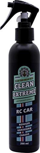 CLEANEXTREME RC CAR Reiniger 200 ml - Reinigungsspray für Karosserie + Chassis. Entfernt Schmutz, Fett, Öl, Reifenabrieb, Silikone, Kunststoffstreifen