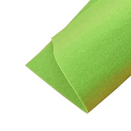 JUANJAUN Hojas de Fieltro Tela de Fieltro Colores Surtidos Patchwork Costura Hoja de Fieltro de poliéster Paquete de Hojas de Fieltro Artesanal de 4 mm de Espesor(Size:4mm,Color:No. 3 Fruit Green)