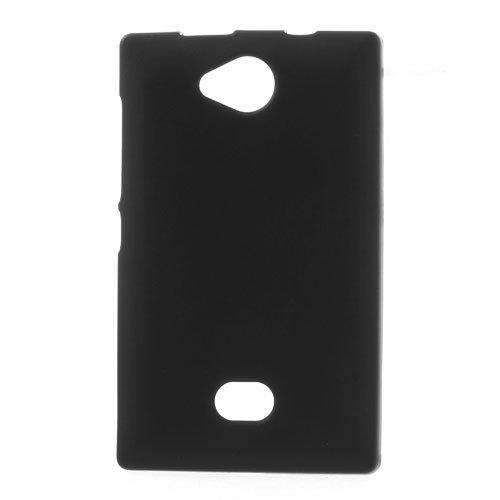 Acce2S–Custodia Cover Silicone per Nokia Asha 503Nero Opaco/Lucido