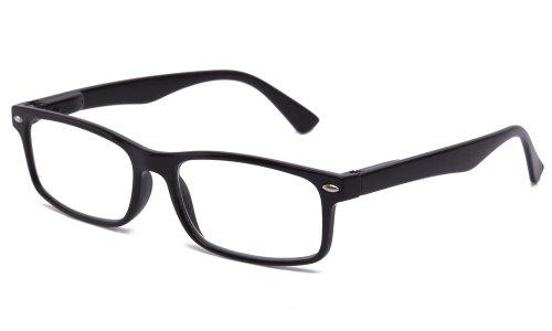 Newbee Fashion - Unisex Translucent Simple Design No Logo Clear Lens Glasses in Black