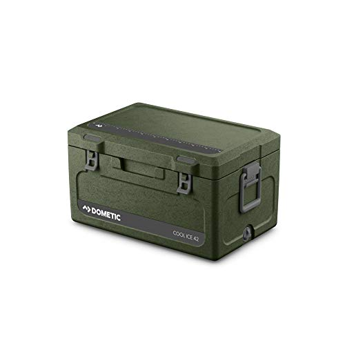 DOMETIC Cool-Ice CI 42 Insulation Box green - High Quality Ideal for Fishing and Hunting, Passive Cool Box, Mini Fridge, Ice Box in Heavy Duty Quality, Capacity 43 Litre