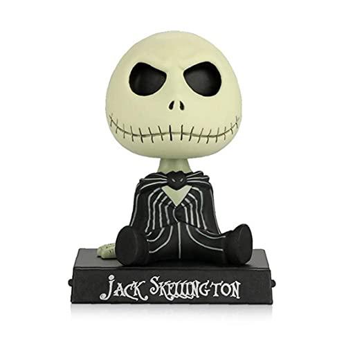 Figura De Acción De Coche Adornos Esqueleto Sacudir La Cabeza del Tablero De Instrumentos Decoración Pesadilla Antes De Navidad Juguetes