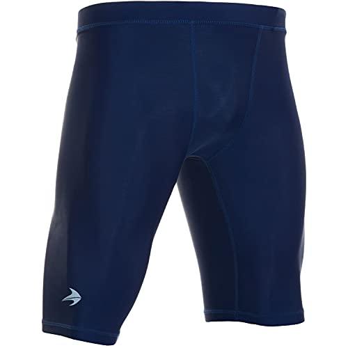 CompressionZ Men's Compression Shorts - Athletic Running & Sports Underwear (Navy, M)
