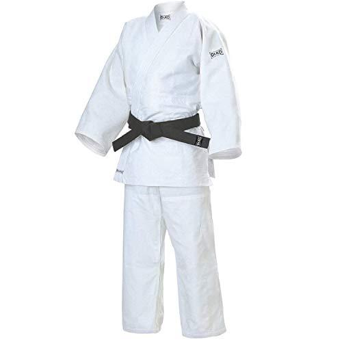 Dr. KO JUDOGI de Judo. Unisex para niños y Adultos (Blanco, 110)