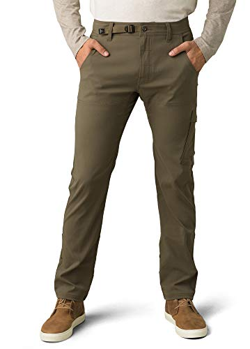 prAna - Men's Stretch Zion Lightweight, Durable, Water Repellent Pants for Hiking and Everyday Wear, Straight, 32' Inseam, Slate Green, 34