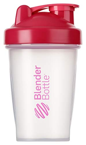 BlenderBottle Classic - Botella de agua y mezcladora, color pink-transparente, 590 ml