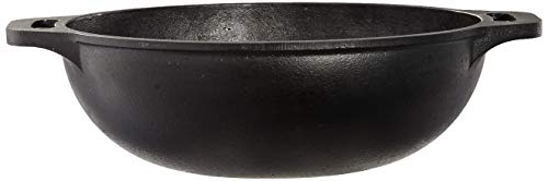 Amazon Brand - Solimo Pre-Seasoned Cast Iron Kadhai,10 Inches (25 cm)