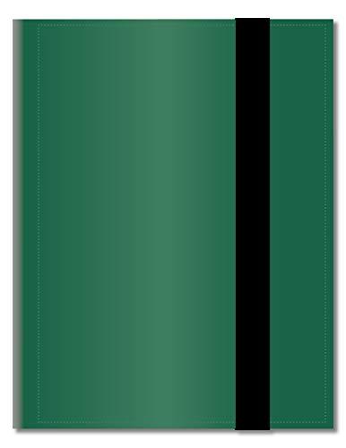 Arkero-G® 18-Pocket Pro Album - Grün / Green - 360 Karten Binder - Tauschalbum / Sammelalbum z.B. für MTG Magic, Pokemon, YuGiOh, Match Attax