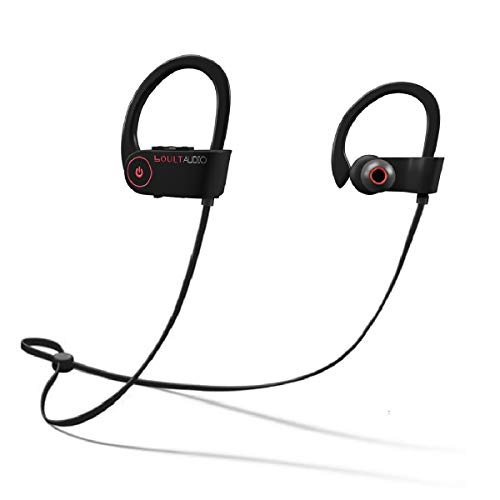 Boult Audio ProBass Muse Wireless Bluetooth Sports Earphones with Mic and Earhook, IPX7 Waterproof Deep Bass Headphones with Long Battery Life, Mobile Headset Best for Gym, Workout and Running (Black)