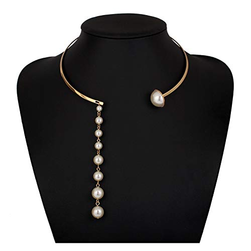 WDSFT Collar Delicado para Mujer Collar de Mujer Collar de Cadena de clavícula - Punk Rock gótico tórica de Gargantilla - Cintura Ajustable Cintura Cintura arnés Jaula de Jaula