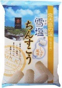 雪塩ちんすこう ミルク風味 袋入 2個入×8袋×15袋 南風堂 沖縄 人気 土産 宮古島の雪塩を使用したおすすめのちんすこう。