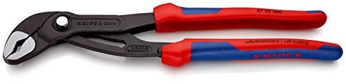 KNIPEX 87 02 300 Cobra® Hightech-Wasserpumpenzange grau atramentiert mit Mehrkomponenten-Hüllen 300 mm