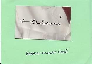 France-Albert René Rene Signed 3x5 Album Page President of Seychelles