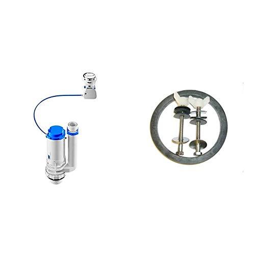 Roca A822502800 Mecanismo de doble descarga de accionamiento por cable, Blanco + AV0007400R Fijación y junta taza tanque Victoria