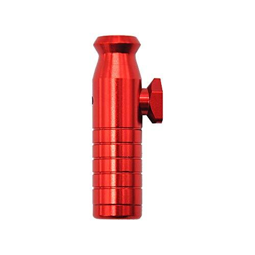 M&M Smartek Dosatore dosatore dosatore per tabacco da fiuto, in alluminio/metallo, in 7 colori per il tuo tabacco da fiuto, versione 5.0 (rosso)