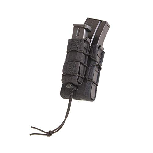 High Speed Gear Double Decker Taco Pouch | Double Stack Magazine Holster for Rifles and Pistols | MOLLE Compatible for Rapid Response (Black, Two Pack)