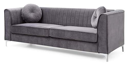 Glory Furniture Delray Sofa, Gray. Living Room Furniture, 3 Seater