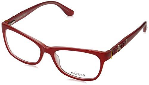 Guess Unisex-Erwachsene GU2606 066 54 Brillengestelle, Rot (Rosso Luc)